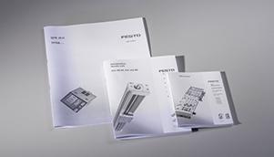Produkt-Handbücher mit Rückstich oder Klebebindung